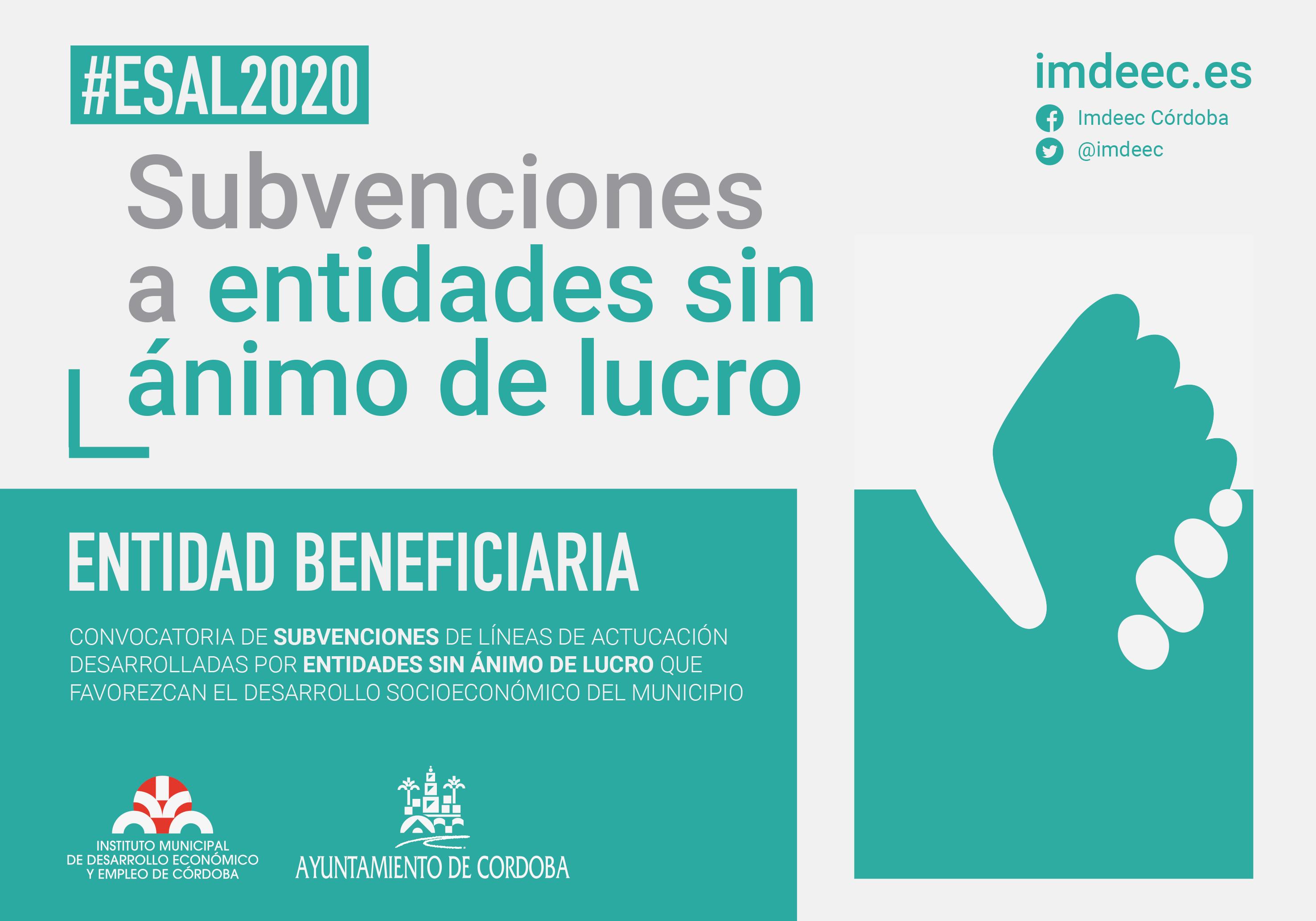Fundecor es entidad beneficiaria de la convocatoria de subvenciones de líneas de actuación desarrolladas por entidades sin ánimo de lucro que favorecen el desarrollo del municipio