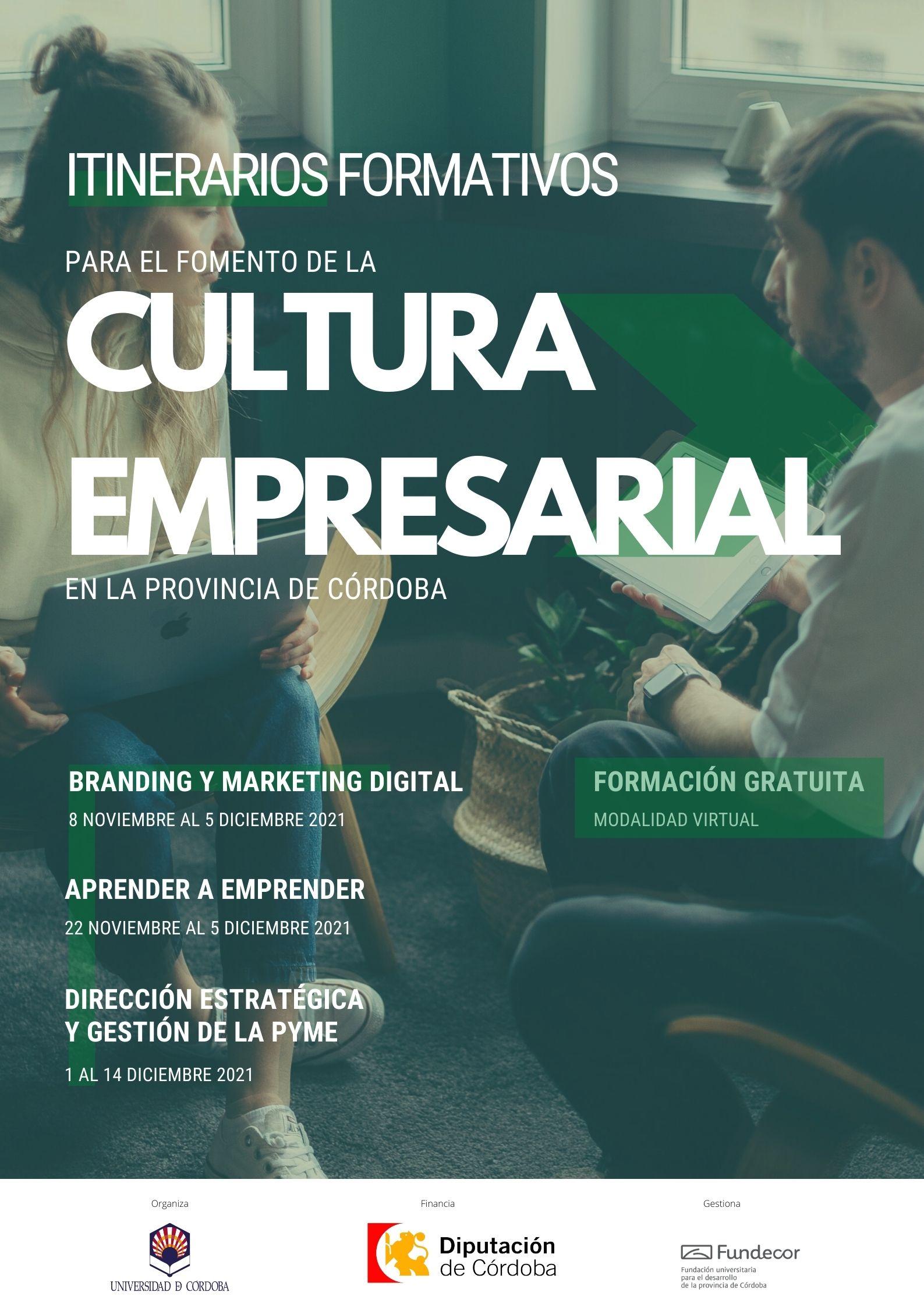 FORMACIÓN GRATUITA en cultura empresarial. Financia: Diputación de Córdoba