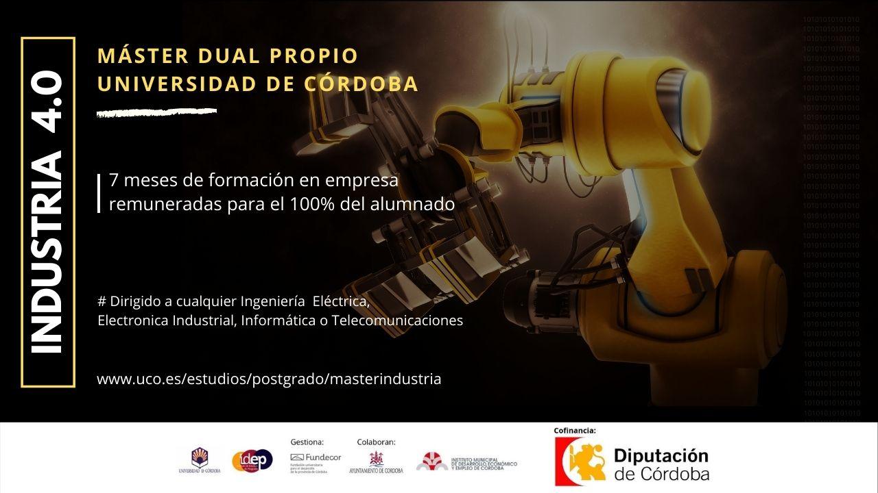 Máster Dual en Industria 4.0 UCO | Con 7 meses de prácticas en empresas
