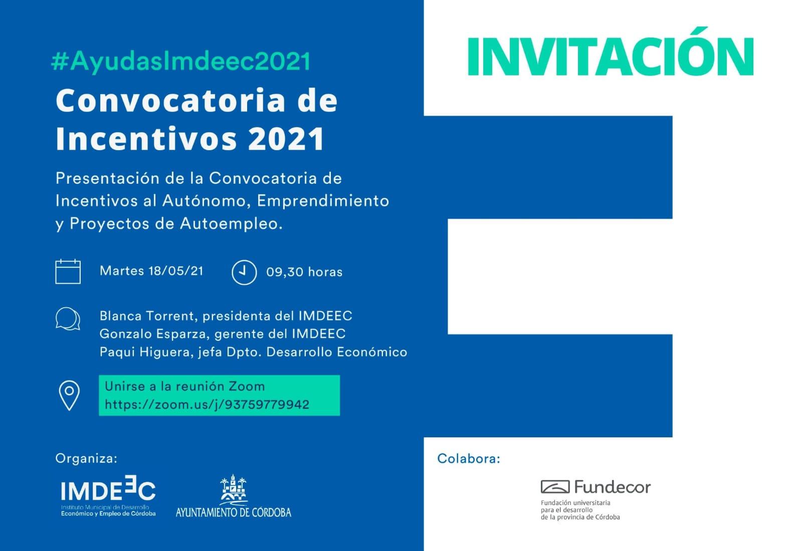 Nuevas ayudas IMDEEC para entidades y empresas de Córdoba