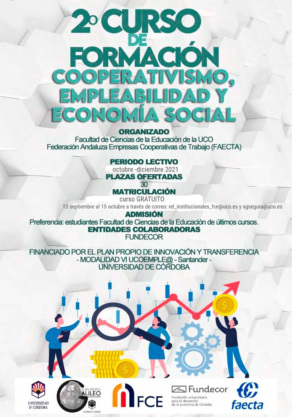 Formación gratuita en Cooperativismo, Empleabilidad y Economía Social