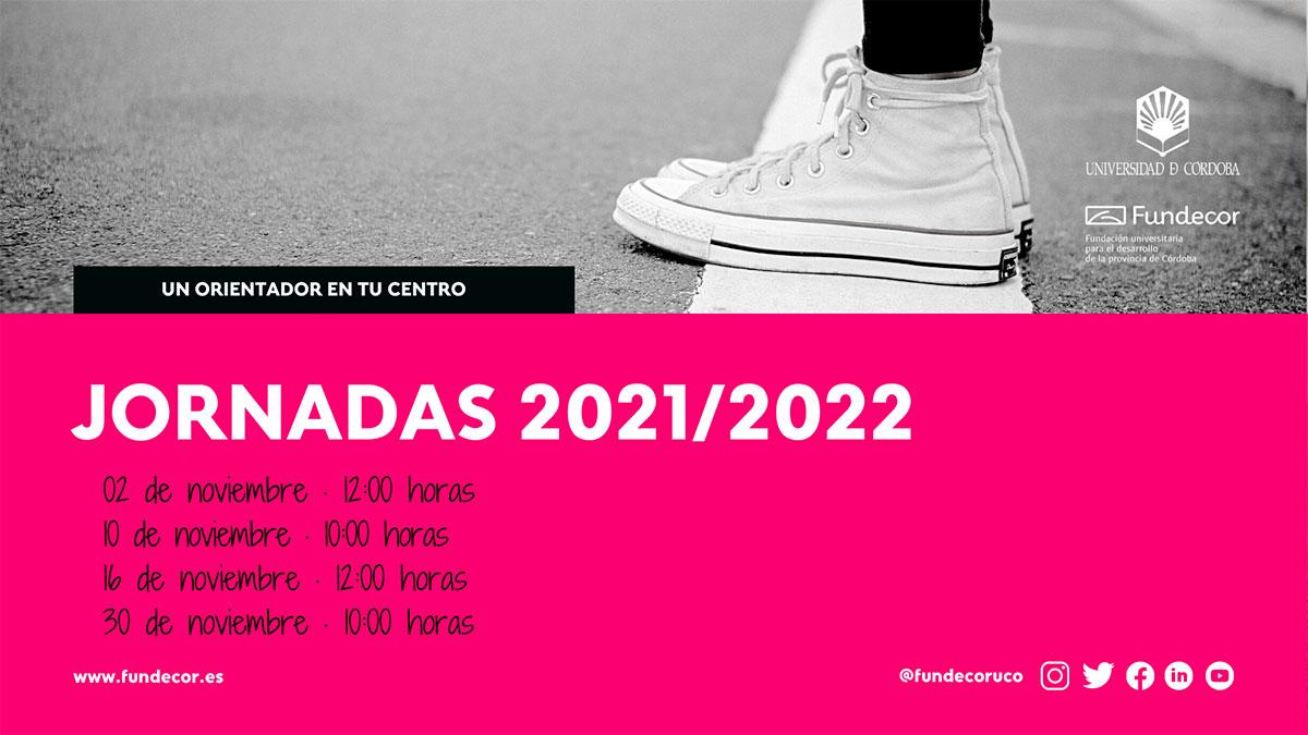 Jornadas Informativas 2021/2022: Un orientador en tu Centro
